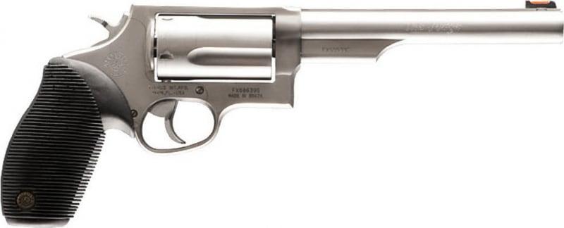 "Taurus .2441069 Magazine Judge Tracker Magazine DA/SA 410/45LC 6.5"" 5rd FOF Black Ribber Grip Matte Stainless Steel"