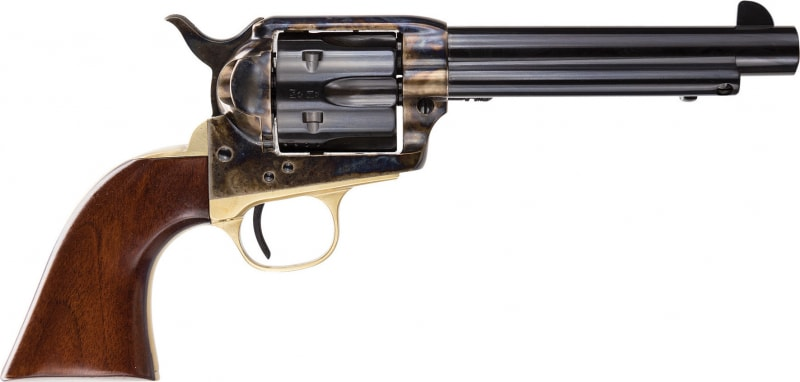 Taylor's & Company Uberti The Ranch Hand 45LC Revolver, 5.5in Barrel Brass - 451