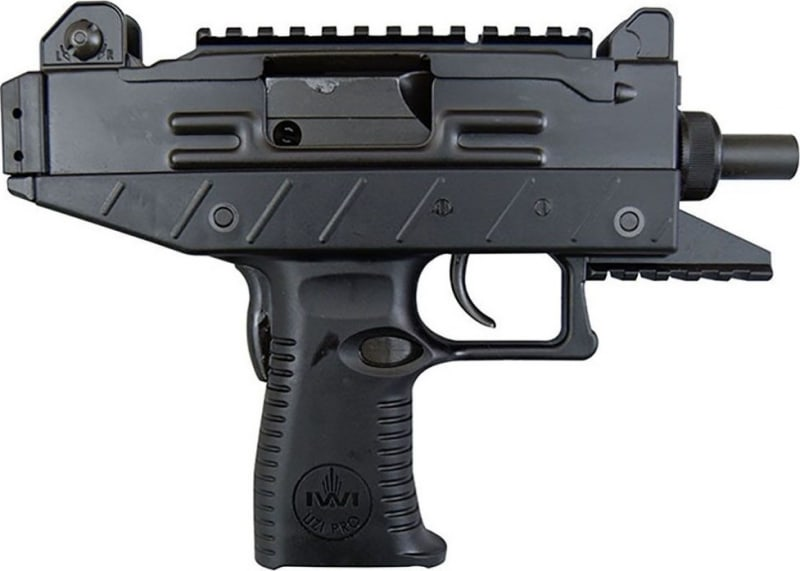 """IWI UPP9S Uzi Pro 9mm Pistol, 4.5"""" 25rd w/ Picatinny Rail & Adjustable Sights"""