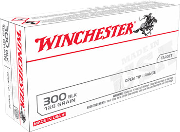 Winchester Ammo USA300BLK USA 300 Blackout 125 FMJ - 20rd Box