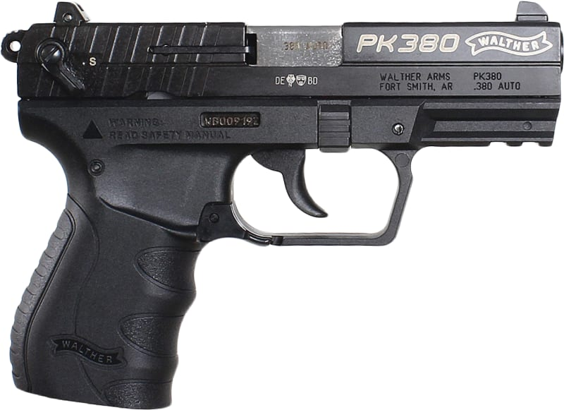 """Walther PK380 Pistol 380 ACP 8rd 3.66"""" Black - Walther 5050308"""