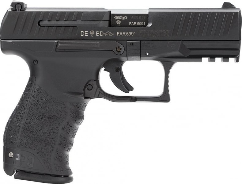 """Walther Arms PPQ M1 9mm Pistol, 4"""" Black - Walther 2795400"""