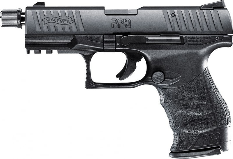 "Walther Arms PPQ Tactical 22LR Pistol, 4"" 12rd Thread Adapter - Walther 5100301"