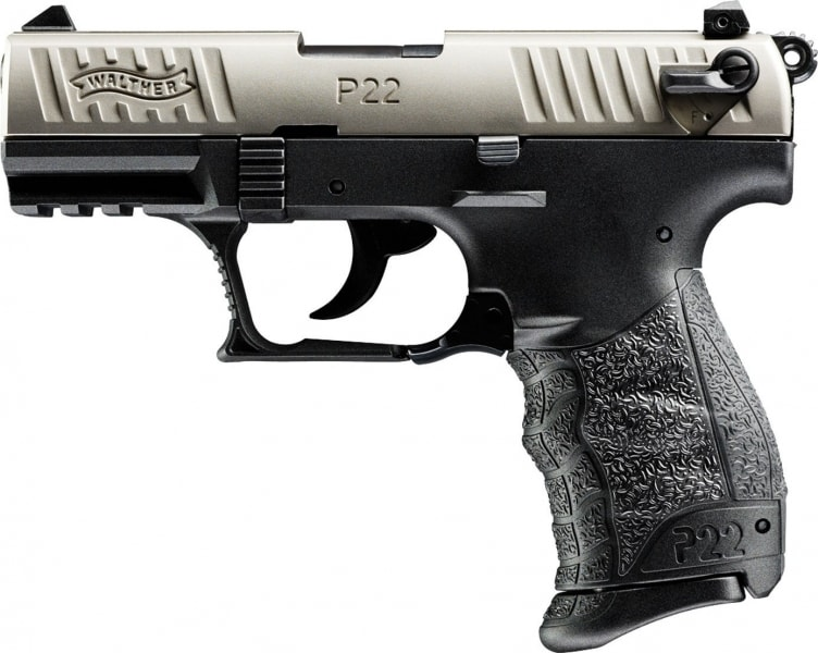 Walther Arms P22 22LR Pistol, 3.4 Nickel Ca Legal - 5120336