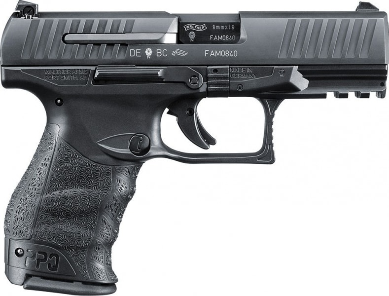"""Walther PPQ M2 9mm 4"""" Black 15rd - Walther 2796066"""