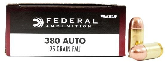 Federal Champion Series .380 ACP 95 GR FMJ Ammo WAE380AP - 50rd Box