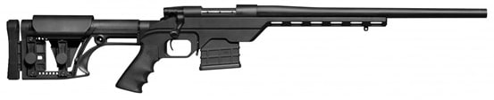 """Weatherby Vanguard 6.5CREED Rifle, 20"""" Black Aluminum Chassis Matte - WBY VLR65CMR0T"""
