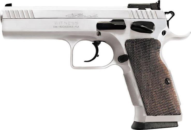 "European American Armory Tanfoglio Witness 9mm Pistol, 4.5"" Stock II 17rd - 600605"
