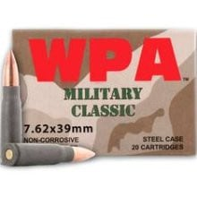 Wolf MC762BFMJ Military Classic 7.62x39 124gr FMJ Ammo - 1000rd Case