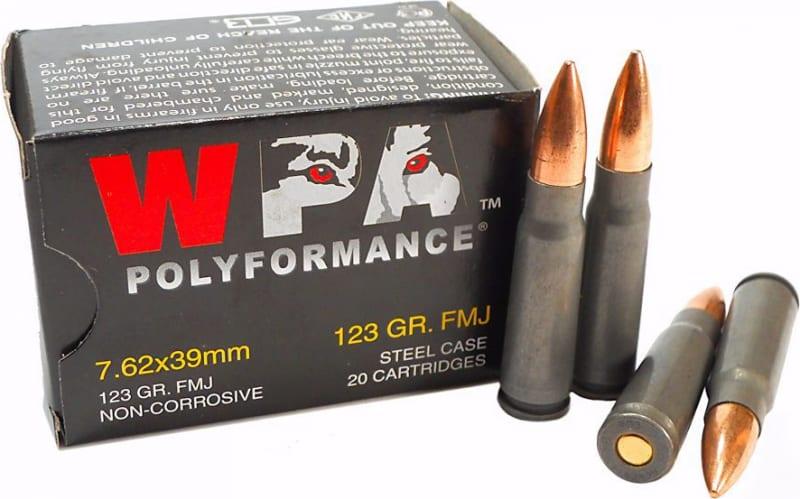 Wolf Polyformance 7.62x39 123 GR FMJ Ammo - 20rd Box