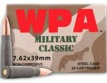 Wolf Military Classic 7.62x39 124 GR FMJ Ammo - 20rd Box