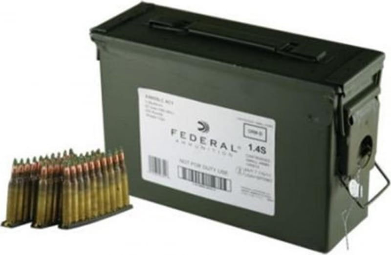 Federal 5.56mm NATO 62 GR Green Tip Ammo on Stripper Clips XM855LC1AC1 - 420rd Can