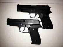 Sig P220 (top) and CZ 999
