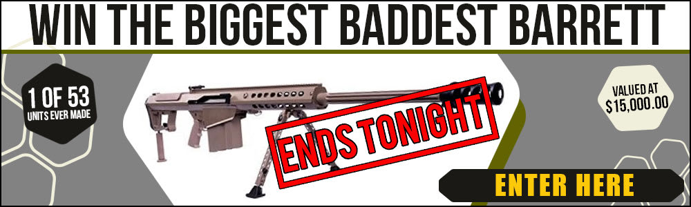 Our Barrett M70A1 contest ends tonight