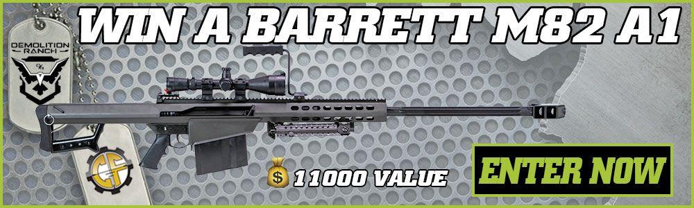 Win A Barrett M82 A1 w/ Leupold Scope