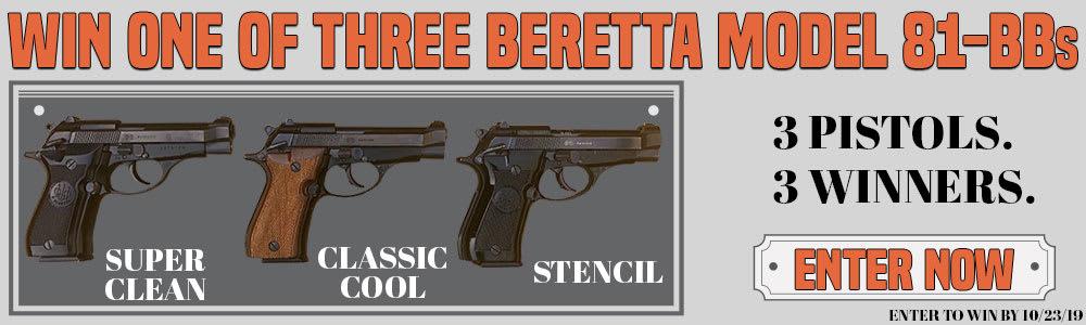 Win One Of Three Beretta Model 81-BB Pistols