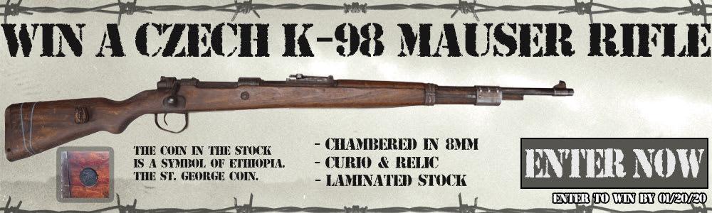 Win A Czech K-98 Mauser Rifle