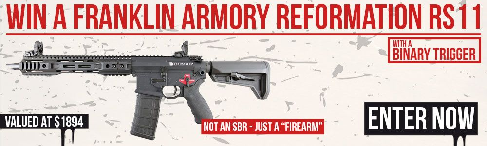Win A Franklin Armory Reformation RS11 w/ Binary Trigger