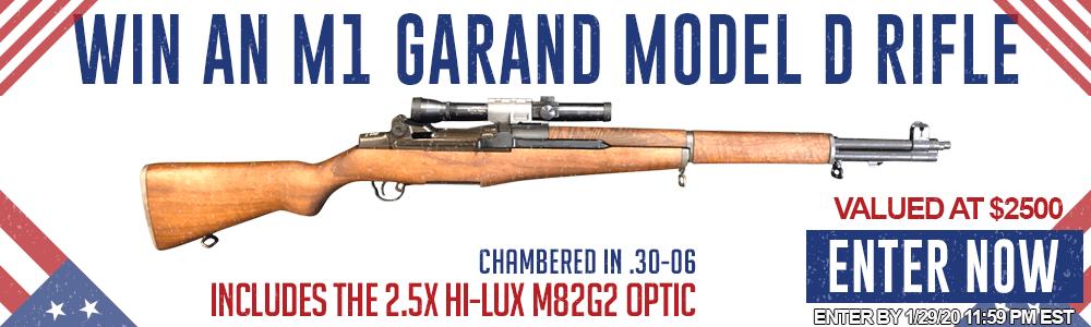 New cotest: Win An M1 Garand Model D Rifle