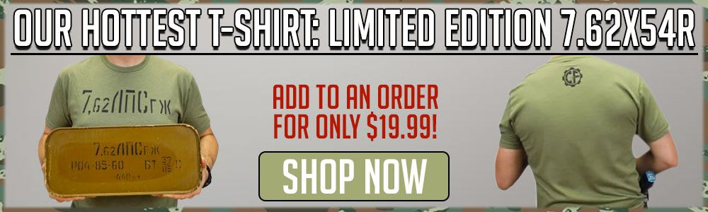 Shop our hottest t-shirt: Limited Edition 7.62x54R
