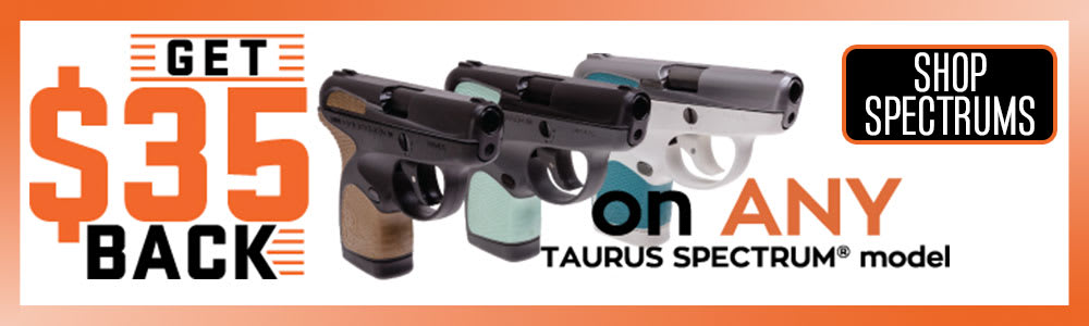 Get $35 off a Taurus Spectrum pistol
