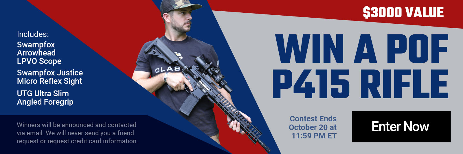 ENTER TO WIN A P0F P415 RIFLE